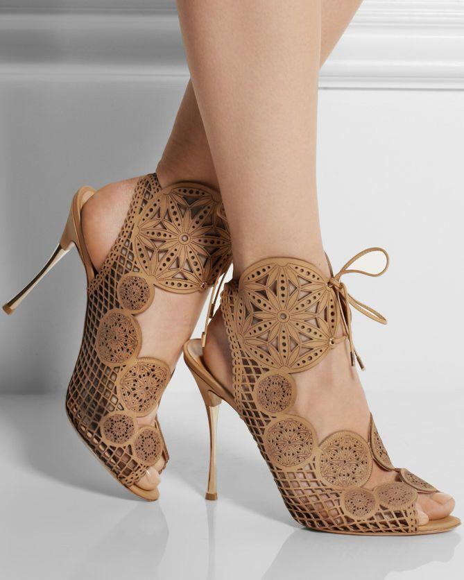 NICHOLAS KIRKWOOD Laser-cut Leather Sandals | Buy ➜ http://shoespost.com/nicholas-kirkwood-laser-cut-leather-sandals/