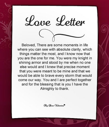 Cute Love Letters For Her Relationships, Romantic poems and - love letters for her