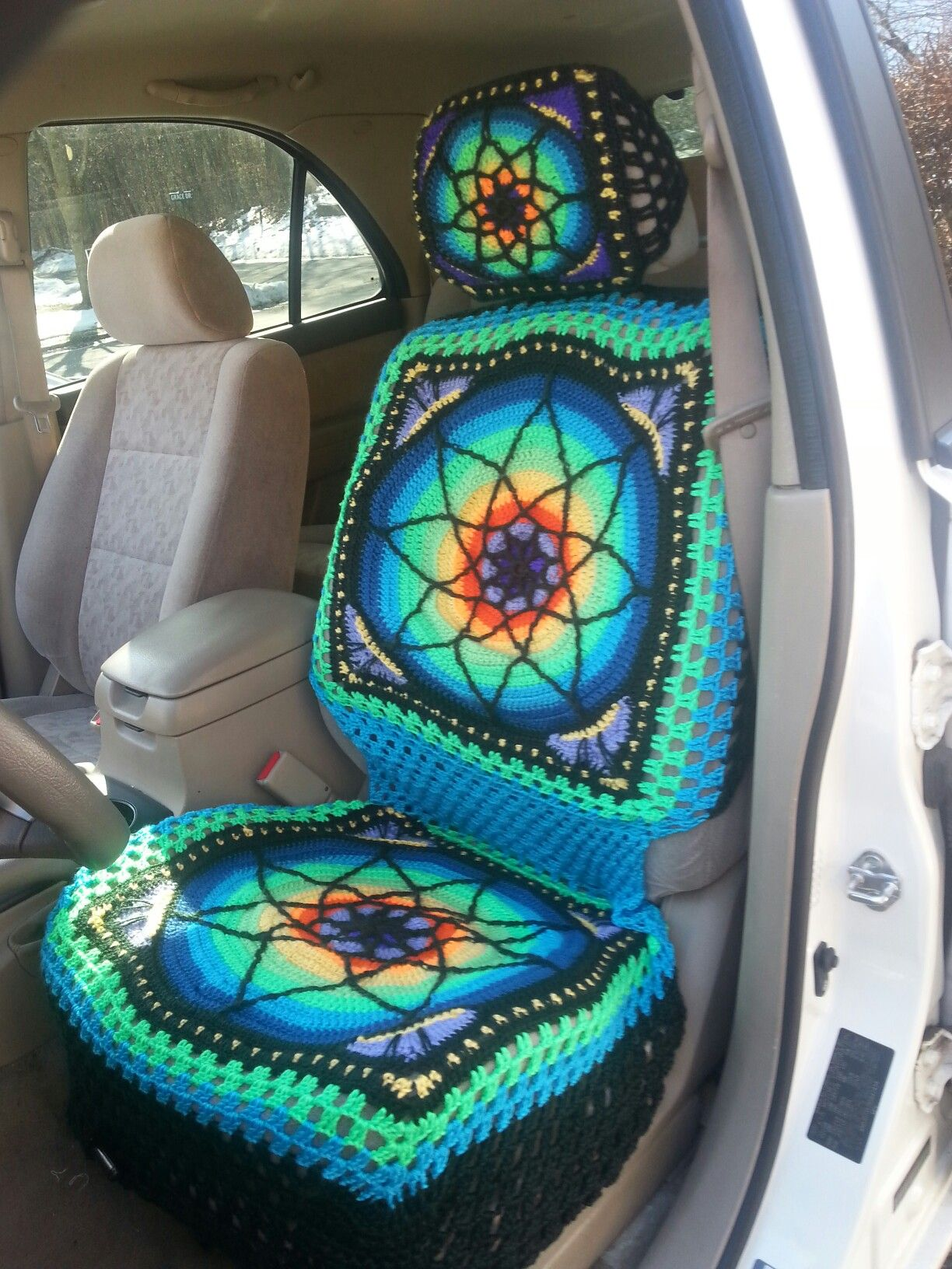 I made this car seat cover! Pattern on Ravelry. This one made for a ...