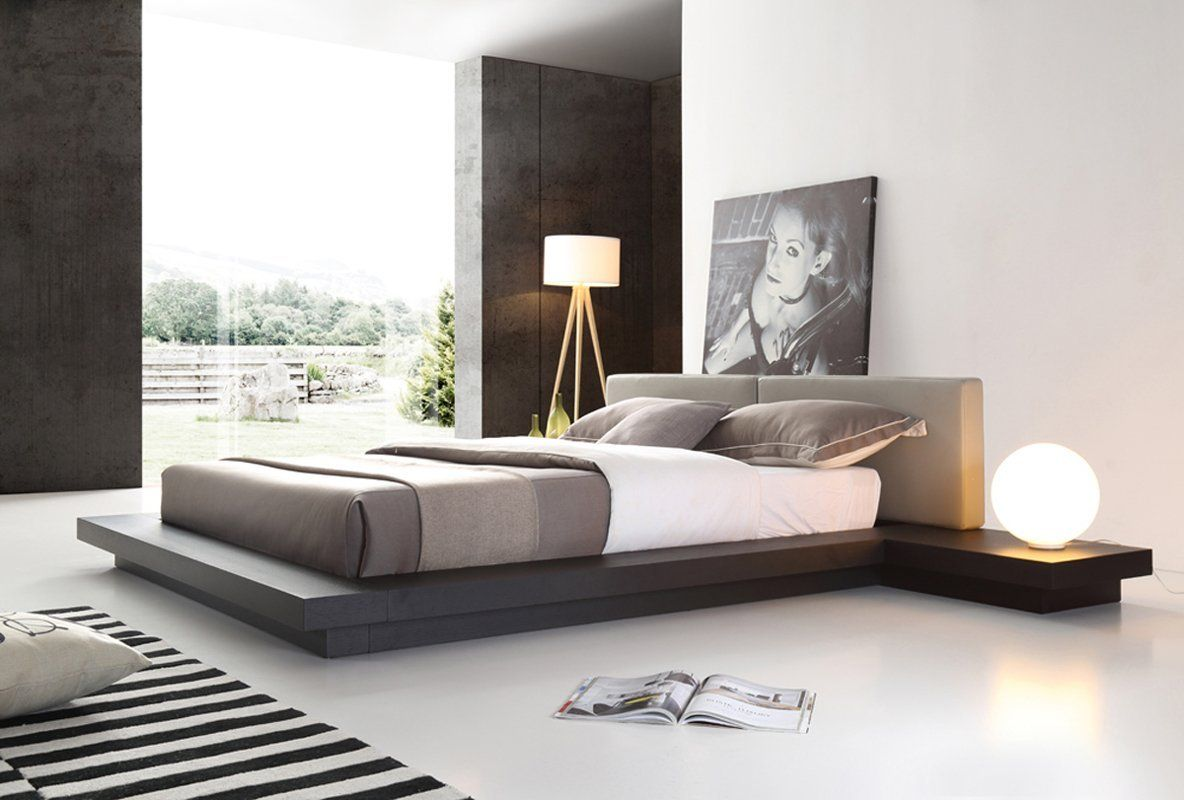Modrest Opal Modern Platform Bed In 2019 Upholstered