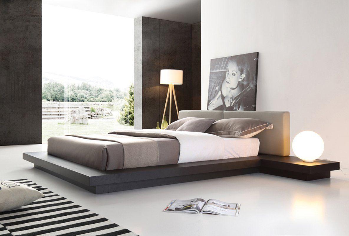 Modrest Opal Modern Platform Bed In 2019 Upholstered