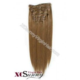 """Wholesale-15"""" #8 Ash Brown 7pcs Straight Full Head Set Clip In Human Hair Extension [CHS006]  Regular Price: $105.98  Special Price: $52.99 You Save: 50% OFF   For details visit: http://www.xcsunnywigs.com/clip-in-hair-extensions/wholesale-15-8-ash-brown-7pcs-straight-full-head-set-clip-in-human-hair-extension-chs006.html"""