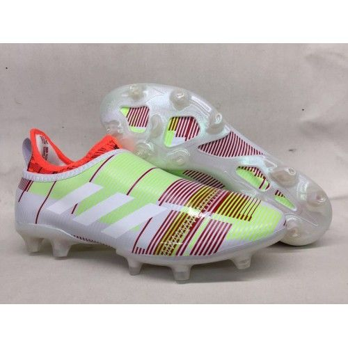 new product 535a6 e2146 Adidas Glitch Skin 17 FG Football Boots White Red Green