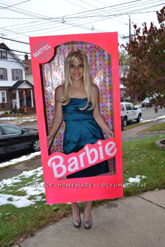 coolest homemade barbie in a box halloween costume - Halloween Box Costumes