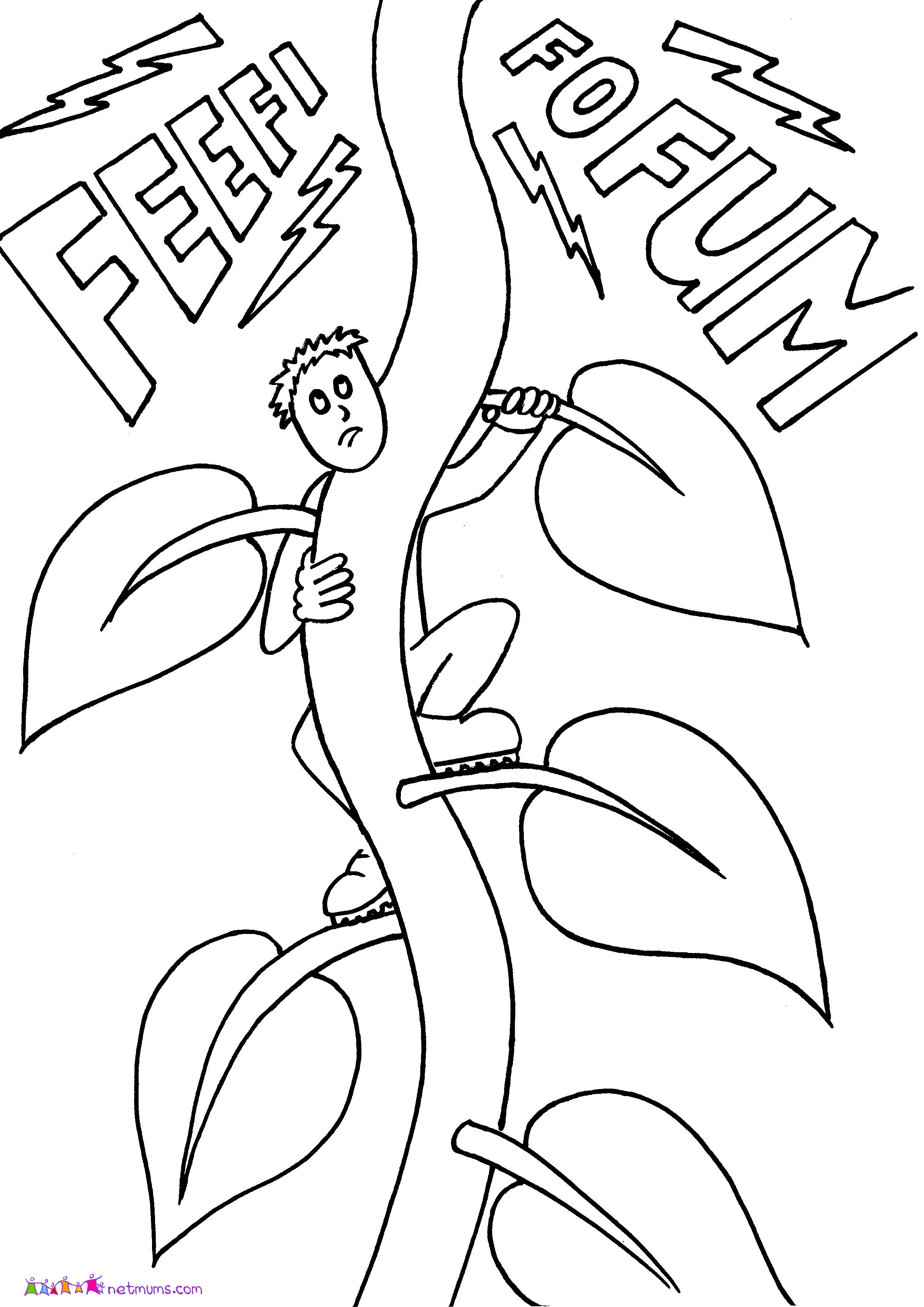 Jack and Beanstalk Coloring Pages for Kids - Enjoy Coloring ...