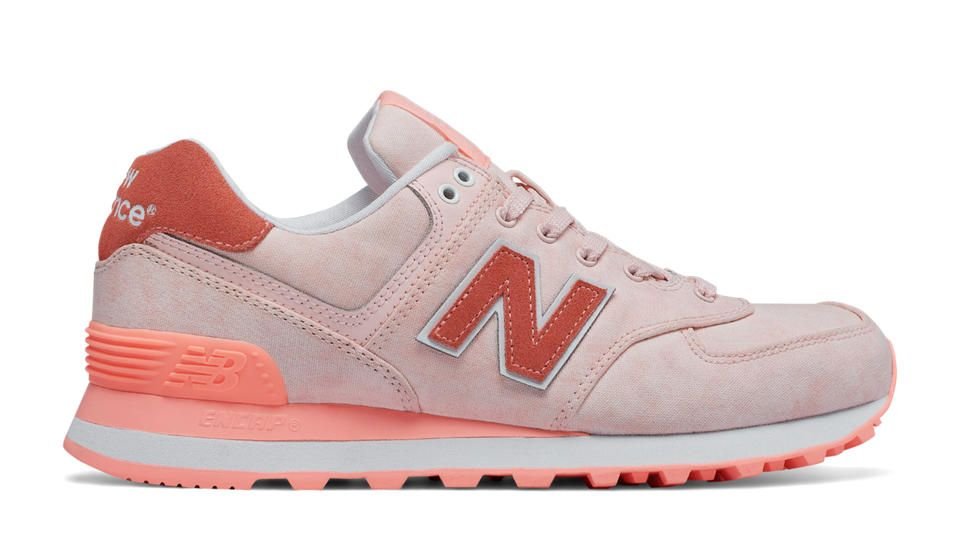 new balance - 574 - baskets en textile - rose