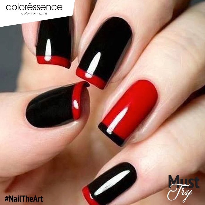 Black and Red is always a great idea. Try it today! #NailTheArt with ...