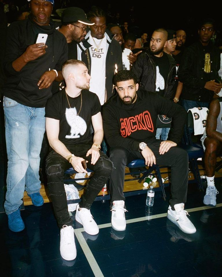 Drake Rocks OVO Hoodie And Off White X Nike Air Max Sneakers