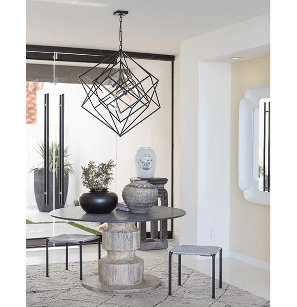 Dining Room Projects By Kelly Wearstler: Circa Lighting Kelly Wearstler Cubist Chandelier. Palm