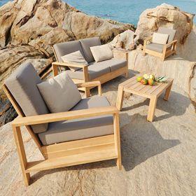 Sofa De Madera Cayo Largo Ref 17784333 Leroy Merlin Madera De Teca Muebles De Teca Muebles De Exterior