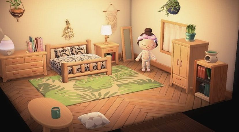 Acnh Bedroom In 2020 Animal Crossing 3ds Animal Crossing Guide Animal Crossing Qr