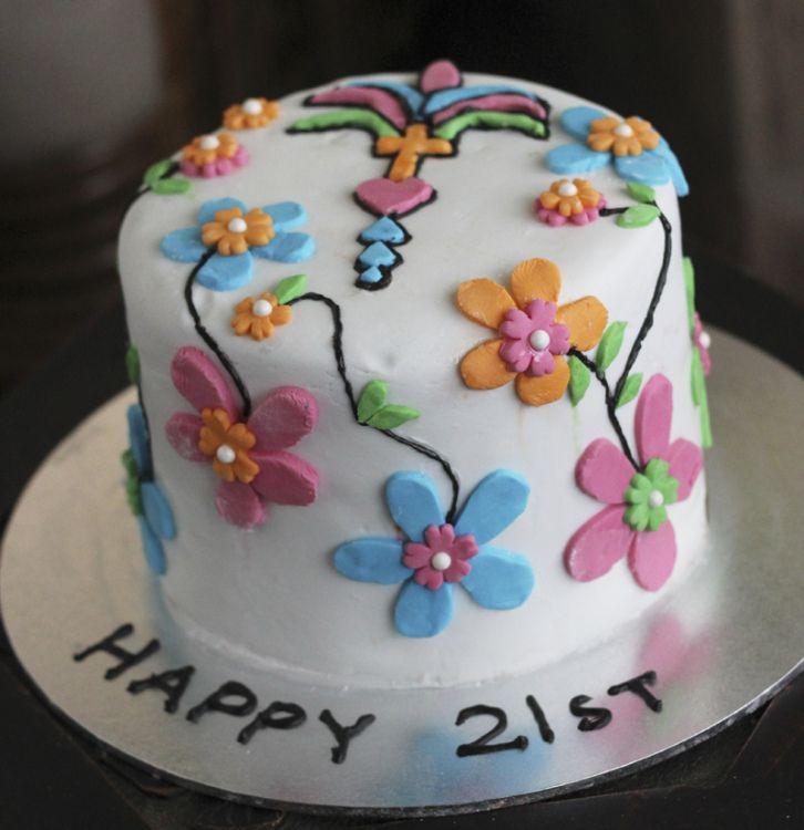 Day Of The Dead Inspired 21st Birthday Cake Cakes Pinterest