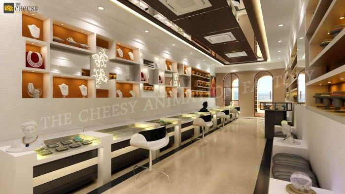 3D Jewellery Shop Interior Design