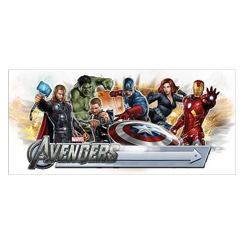avengers peel and stick giant headboard with letters decal