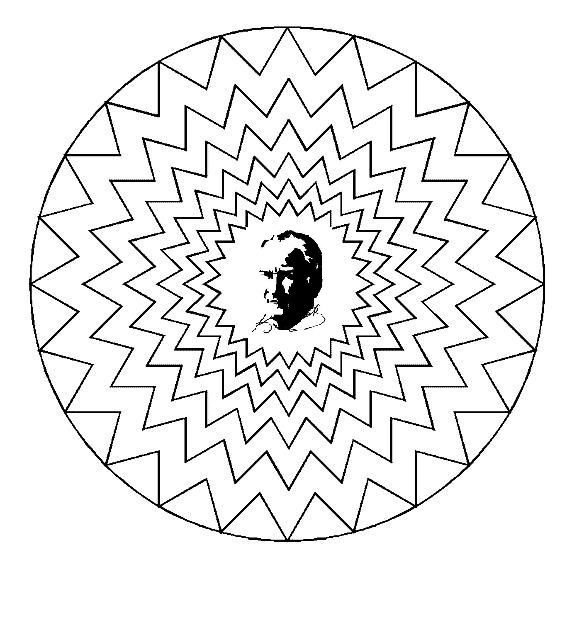 Ataturk Ataturkboyama Boyama 10kasimboyama Boyama Sayfalari Mandala Boyama Sayfalari Zentangle Desenler