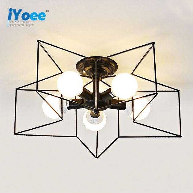 Reviews Modern Star Shape LED Ceiling Lights Surface Mounted Ceiling - Surface mounted kitchen light fixtures