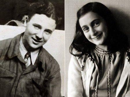 Peter Van Daan and Anne Frank