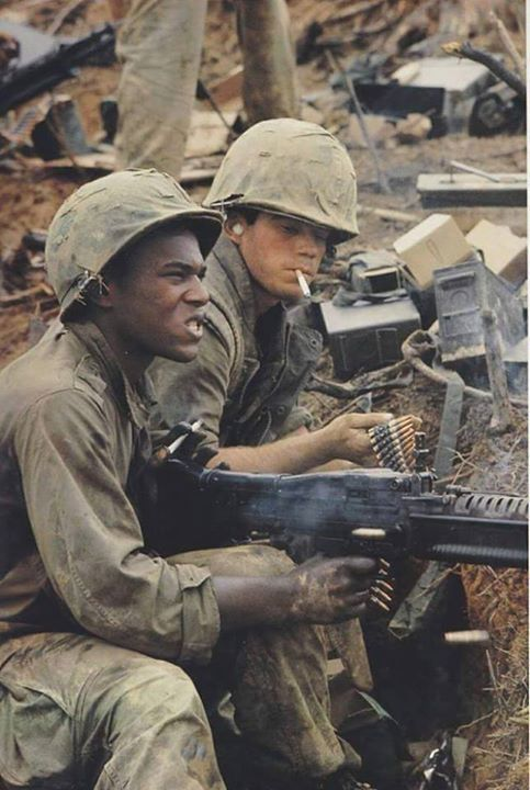 This is a picture of U.S. soldiers during the Vietnam war, which led to an…