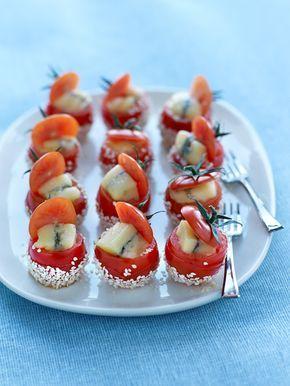 Tomates caramelisees au morbier !