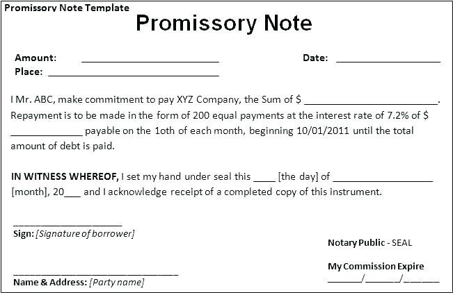 Sample Letter Of Promise To Pay Debt Template Beautiful Payment Agreement Form Word Free Simple Promissory Note No Int Promissory Note Notes Template Lettering