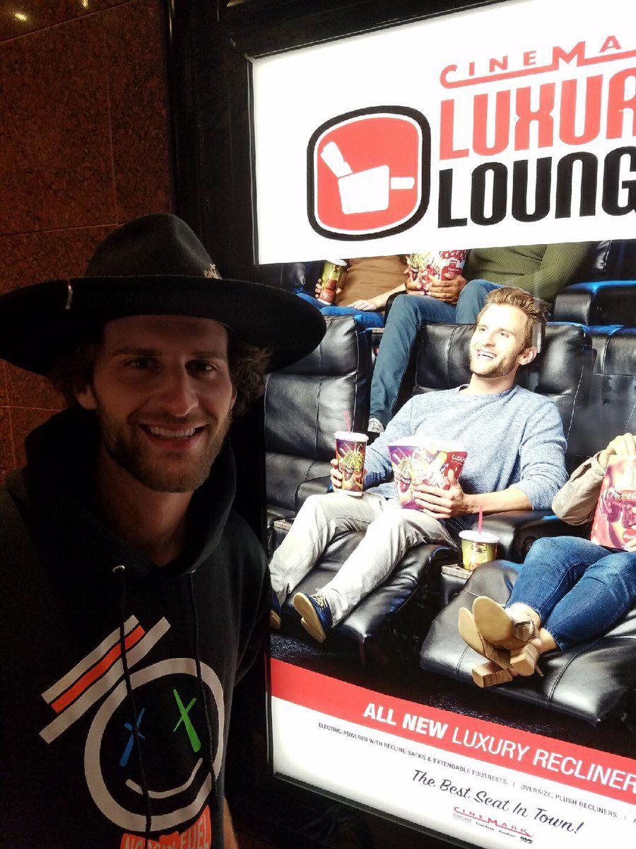 Logan Allison ran into himself at Cinemark! cluttstalent
