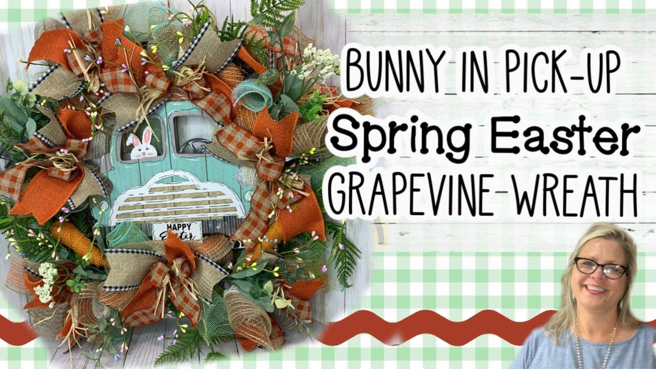 Photo of ??Bunny in Pick-Up Spring Easter Grapevine Wreath Inspiration