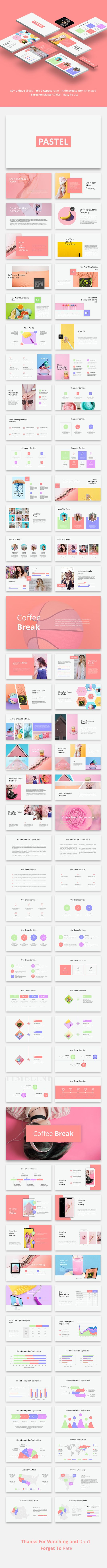 Dare - Pastel Minimal Powerpoint Template | PowerPoint Templates ...