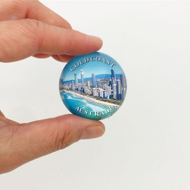 Gold Coast Australia Glass Marble Magnet Magnetic Memo Holder Memo Holder Marble Magnets Glass Marbles