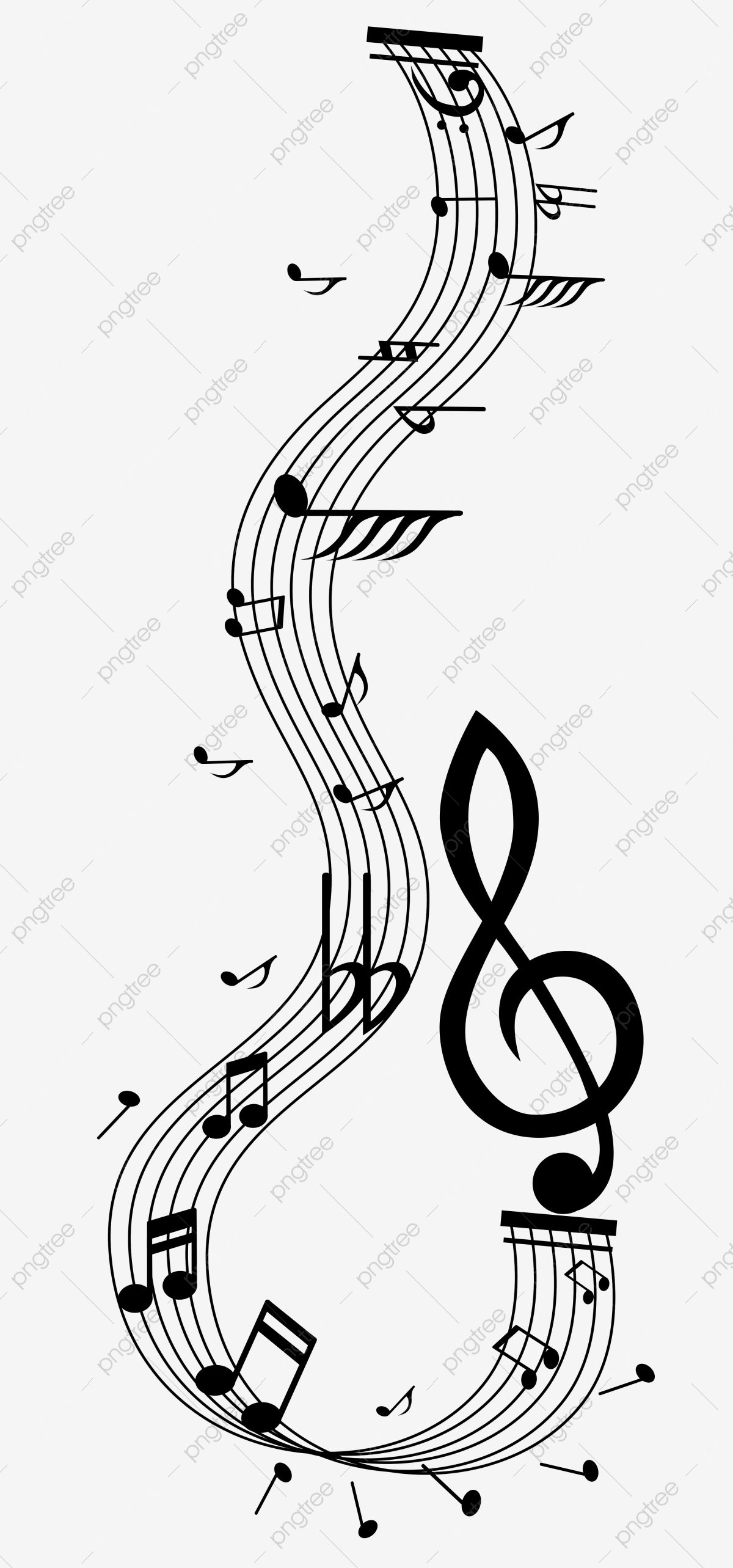 Cute Cute Black And White Musical Notes Staves Ps Path Editable Decorative Pattern Music Clipart Cute Black And White Png Transparent Clipart Image And Psd F Png Images For Editing Black