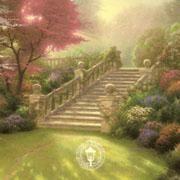 kinkade stairway to paradise - Painting by Thomas Kinkaid