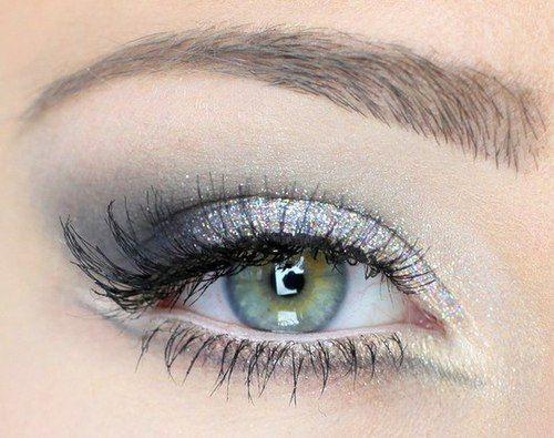 Silver eyeshadow