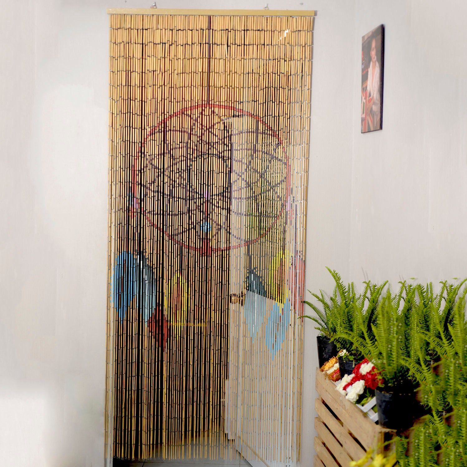 Dream Catcher Beaded Curtain Room Divider Beaded Door Curtain Bamboo Beaded Curtain For Doorw In 2020 Bamboo Beaded Curtains Beaded Curtains Beaded Door Curtains