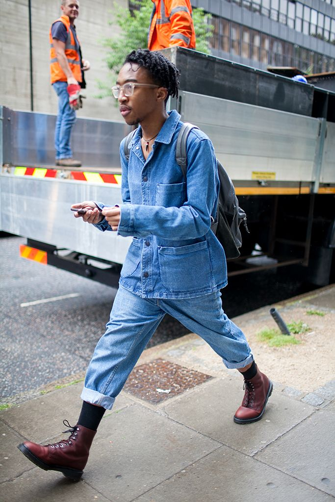 Street Style at London Collections Men Spring 2017 Moda masculina