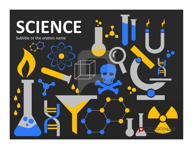 Physics and chemistry presentations function best with imagery - science powerpoint template