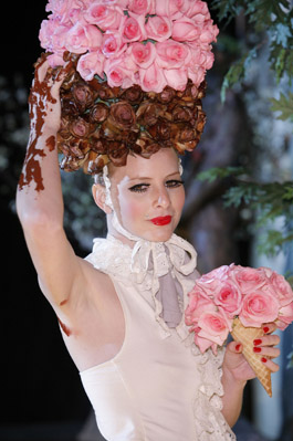 A look at the outrageous and inventive floral hats and headdresses from the 2008 Tulips and Pansies Headdress Affair, an annual fashion show.