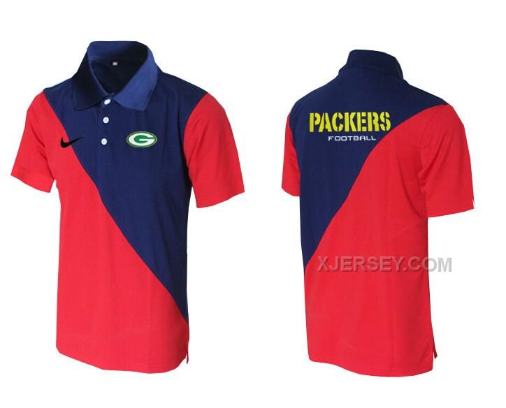 http://www.xjersey.com/nike-packers-blue-and-red-polo-shirt.html Only$33.00 #NIKE PACKERS BLUE AND RED POLO SHIRT Free Shipping!