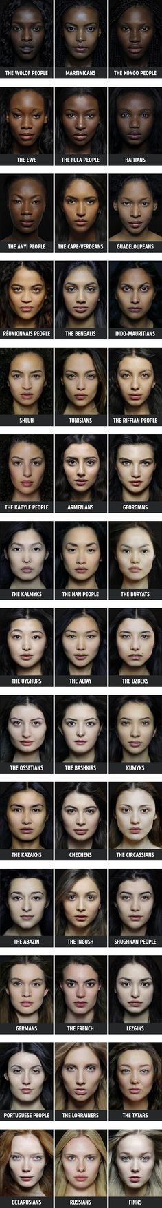 Facial color palettes around the world                                                                                                                                                                                 More