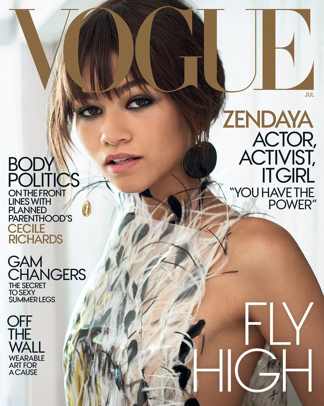 Zendaya is out promoting her new spider man film and the actress is the july 2017 cover star of vogue magazine on the cover which was s