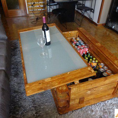 mesa de centro elevable muebles con palets - Muebles Palets