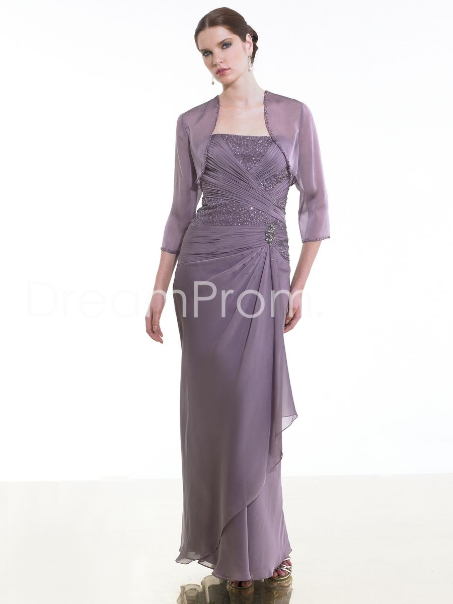 Fabulous Beaded Pick-Ups A-Line Strapless Floor-length Mother of the Bride Dresses