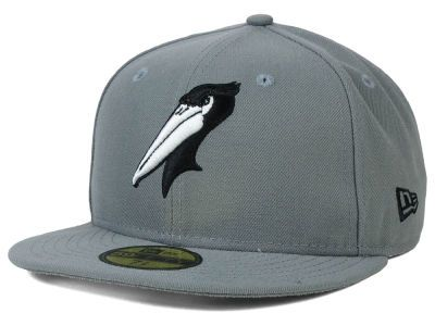 ff8ad2d3c Myrtle Beach Pelicans New Era MiLB Gray Black White 59FIFTY Cap ...