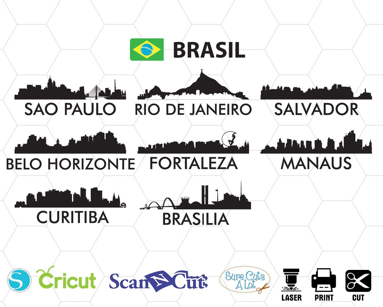 Brasil city svg, Sau Paulo svg, Rio De Janeiro svg