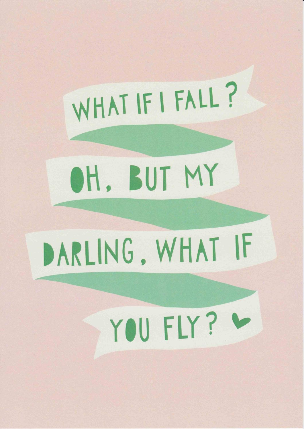 What If I Fall Oh My Darling What If You Fly Print Unframed | Etsy