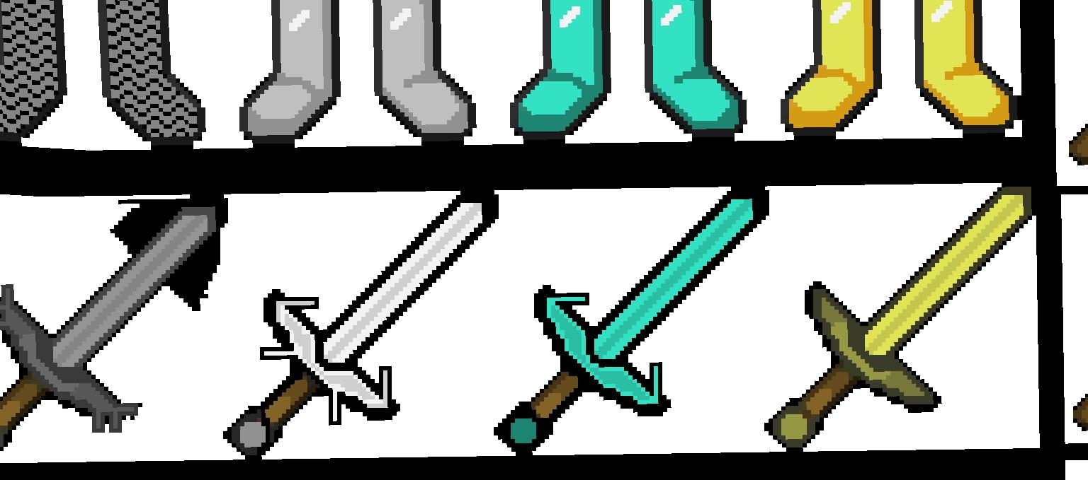 как картинки по клеточкам майнкрафт мечи з модами роду ипомей
