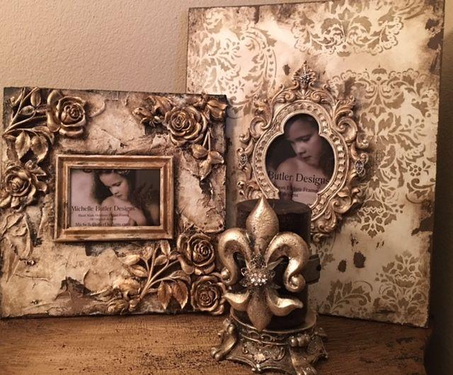 Michelle Butler Designs Vintage Damask & Roses Picture Frames SHOP ...