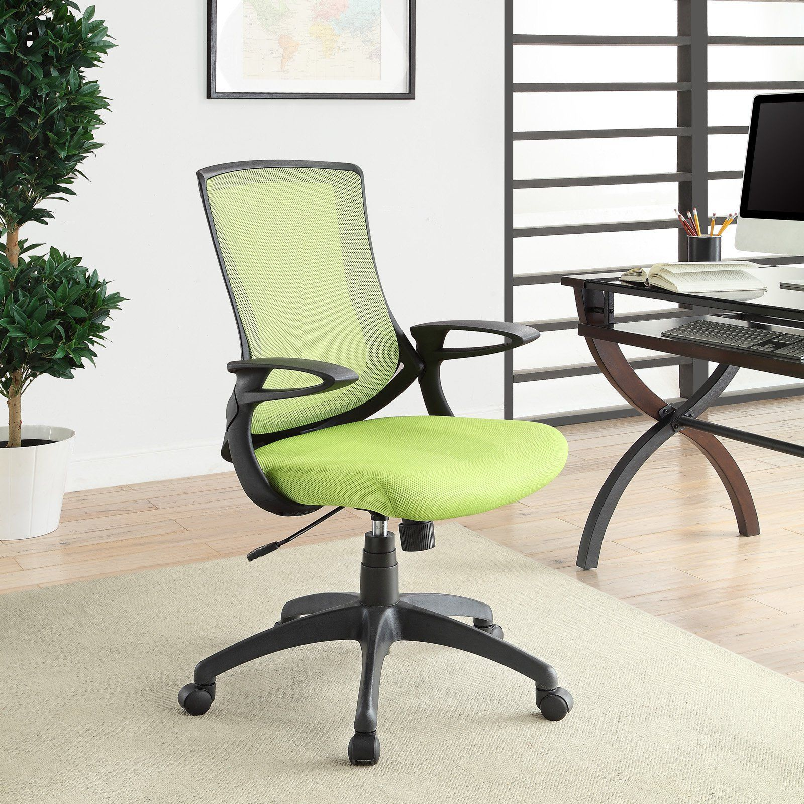 Linon Home Carlyle Lime Office Chair - 50LIME50  Office chair