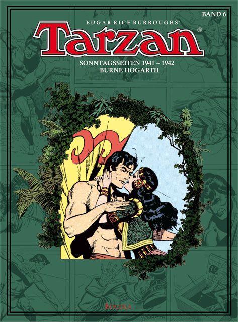 Tarzan Sonntagsseiten 1941 - 1942  Burne Hogarth  (Originalseiten 513 - 616) Großformatiger (26,3 x 35,4 cm) Hardcover-Band, 112 Seiten erstmals in der restaurierten ursprünglichen Farbversion der US-Sonntagsseiten! Vorwort: Uwe Baumann