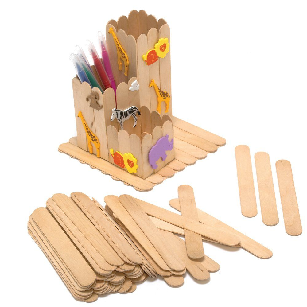 Pack Of 100 Plain Jumbo Craft Sticks...what to use these for ...
