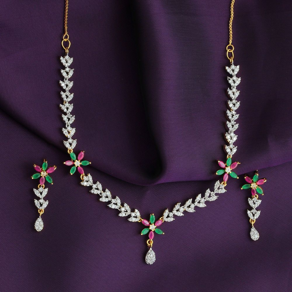Indian gold plated floral red green traditional bollywood women