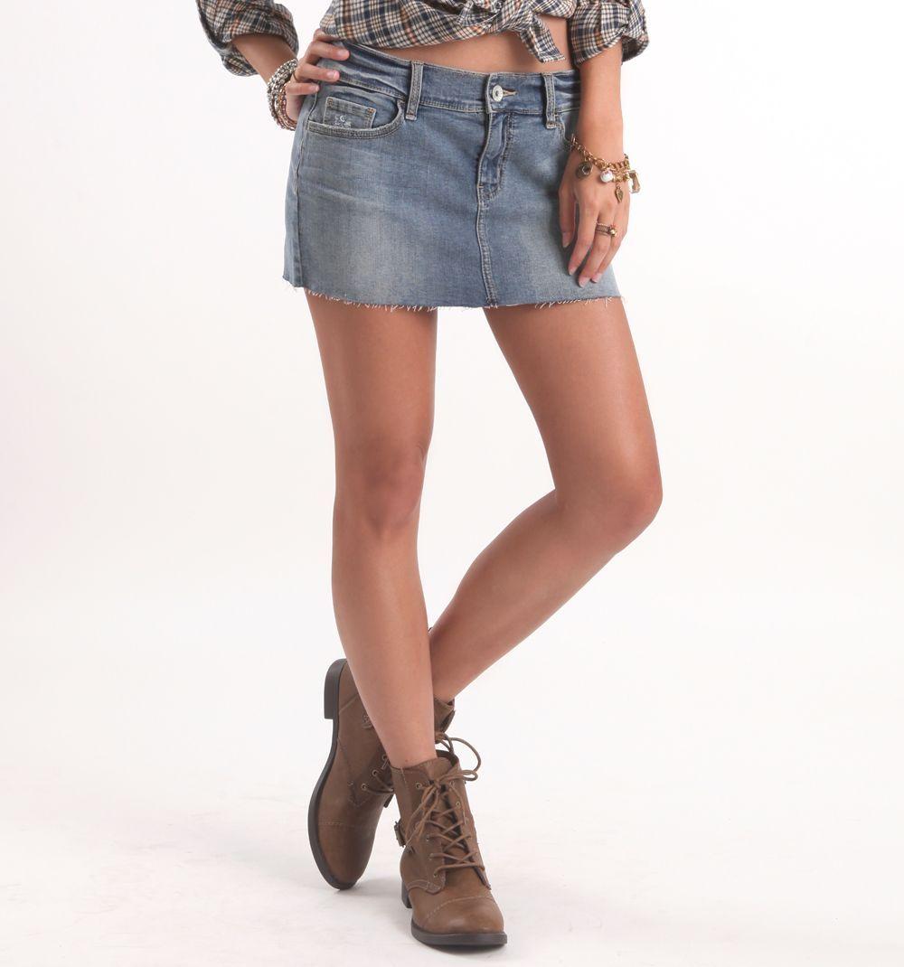 (Limited Supply) Click Image Above: Womens Bullhead Black Skirt - Bullhead Black 5 Pocket Denim Rose Skirt